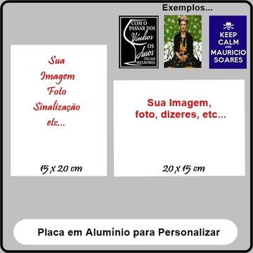 Placa em Alumínio p/ Personalizar 15x20