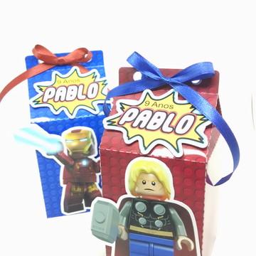 Festa Heróis Marvel Lego Caixinha Leite