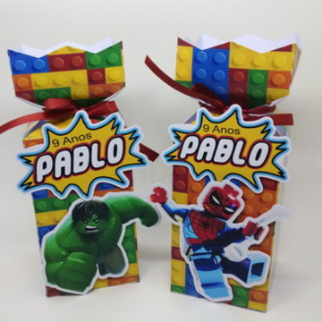 Festa Heróis Marvel Lego Caixinha Bala