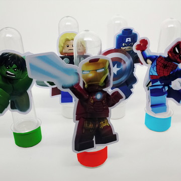 Festa Heróis Marvel Lego Tubetes