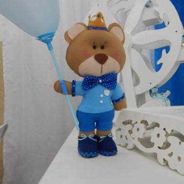 centro mesa ursinho príncipe feltro