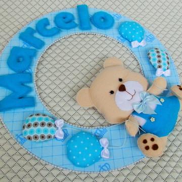 Porta Maternidade Urso em feltro