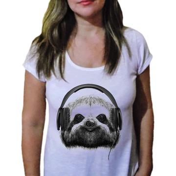 Camiseta Feminina Preguiça Swag