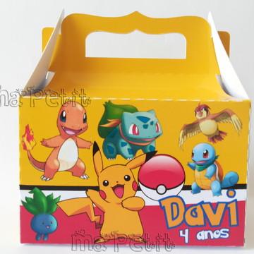 Caixa Lembrancinha Pokemon