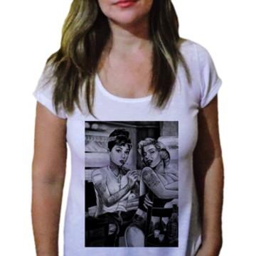 Camiseta Feminina marilyn monroe tattoo