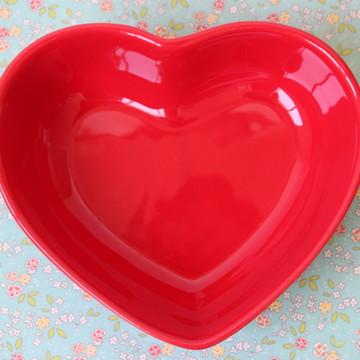 Tigela coração - Vermelho