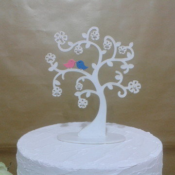 Topo de bolo árvore mdf