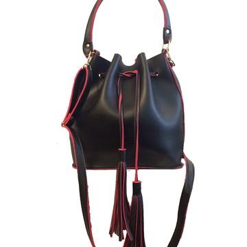 Bolsa feminina saco transversal com 2 alças + brinde