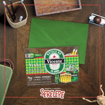 Convite Boteco Heineken Impresso