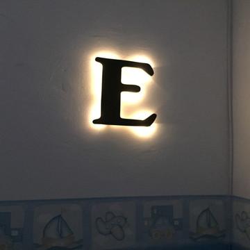 Luminária Letra Pequena MDF LED