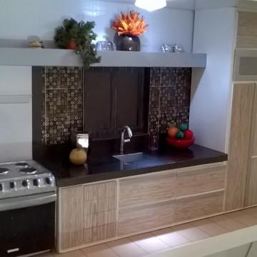 Quadro Cenário de cozinha com iluminação