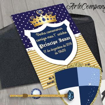 Convite Festa Aniversário Principe
