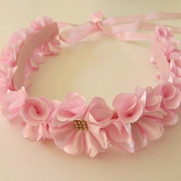 coroa de flor headband faixa tiara noiva