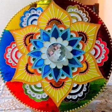 Mandala em Acrílico 20 cm