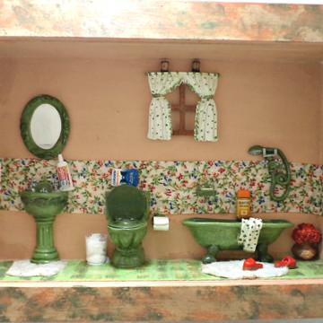 Banheiro miniatura em resina