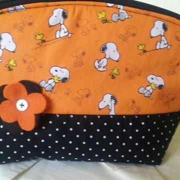 Necessaire plastificada Snoopy