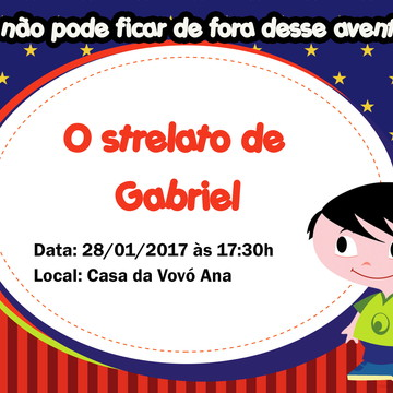Convite Jupeter Show da Luna