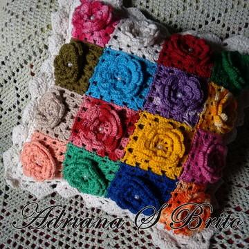 Capa para almofada square de flores