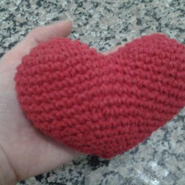 Coração amigurumi