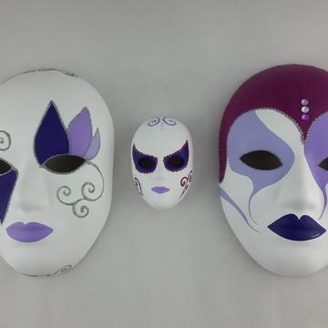 Trio de Máscaras de Parede Venezianas