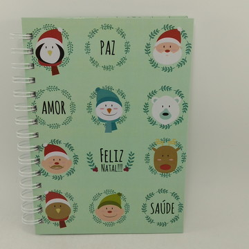 Caderno Pequeno Personalizado Natal