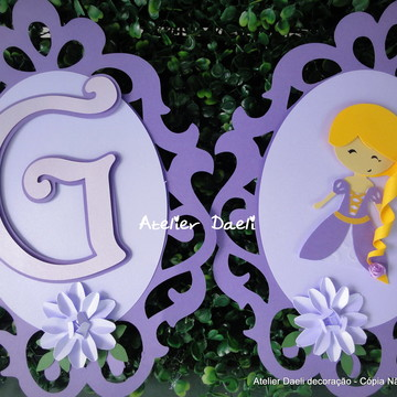 Bandeirola Rapunzel