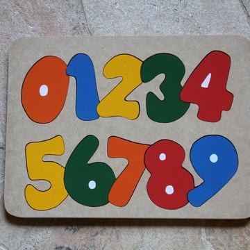 Tabuleiro de Encaixe - Números