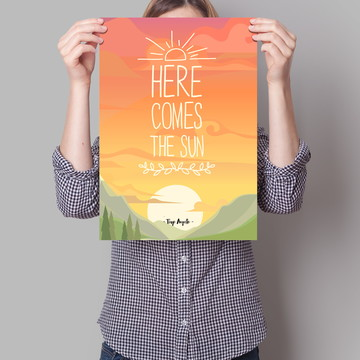 Cartaz Here comes the sun