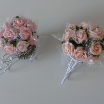 Bicicleta com mini rosas