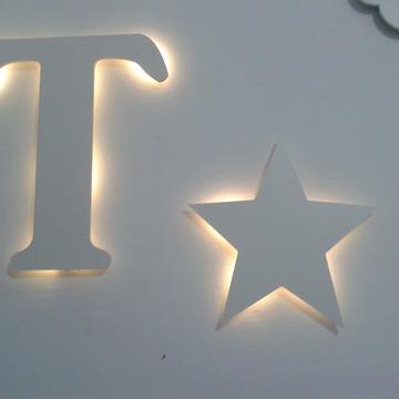 Estrela + Letra LED Luminária