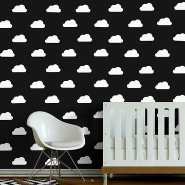 Adesivo mini nuvens brancas