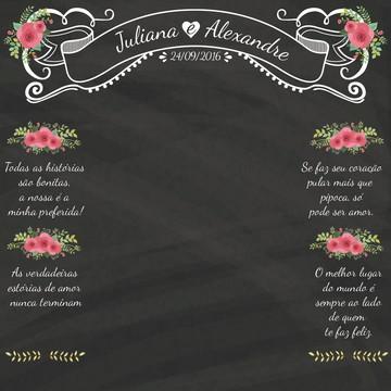 Backdrop Chalkboard Casamento - Lousa