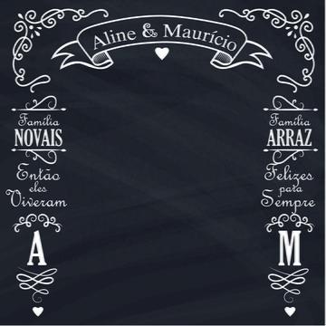Chalkboard Lousa para Casamento