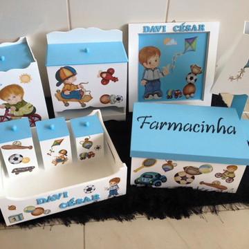 kit higiene para o bebê brincadeira de menino