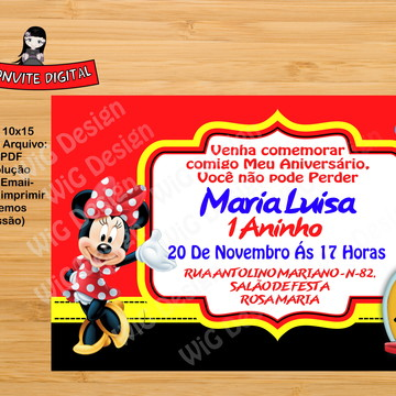 Convite Digital Minei Mickey