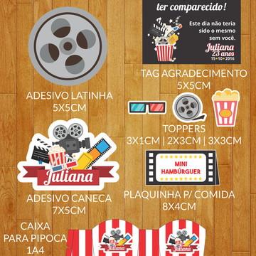 Kit Adesivos Festa Cinema