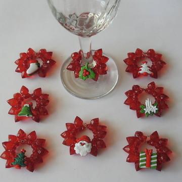 Marca taça de natal 8 peças vermelha