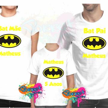 Camisa Batman 3 Pçs Personalizadas
