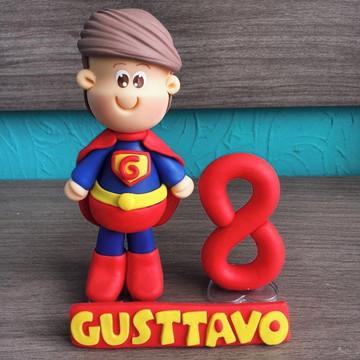 Topo de Bolo Super Man