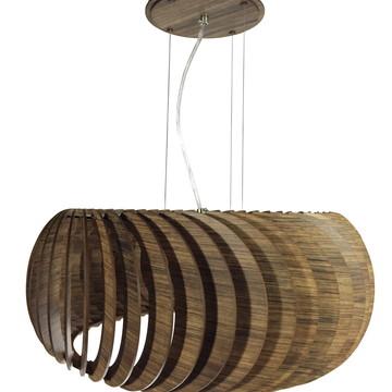 Promoção!Luminária de madeira Delphini