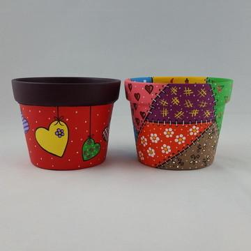 Dupla de Vasos Violeta G Coloridos