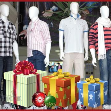 Adesivo de Natal Caixas de Presentes