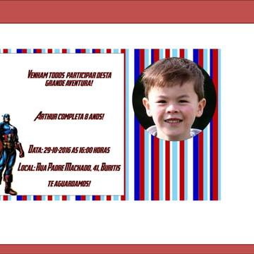Convite Capitao America com foto