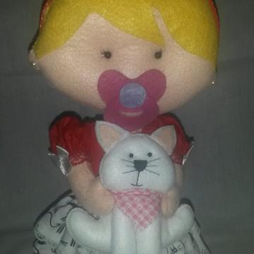 boneca baby com mascote