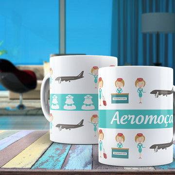 Canecas personalizada Aeromoça!