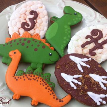 Biscoitos Decorados Dinossauros