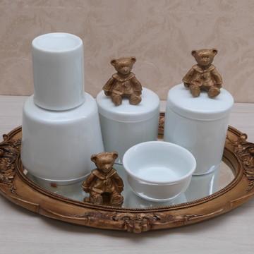 Kit higiene urso bandeja oval