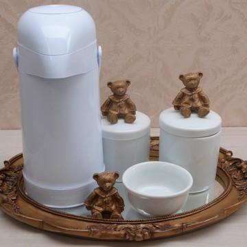 Kit higiene urso ouro velho 6 peças