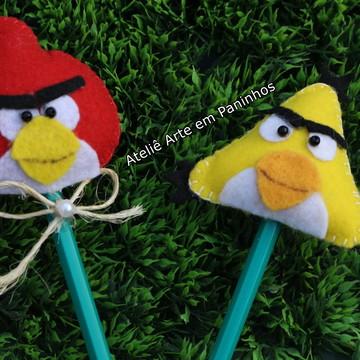 Lápis com Ponteiras do Angry Birds