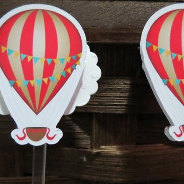 Toppers para doces Tema Balões
